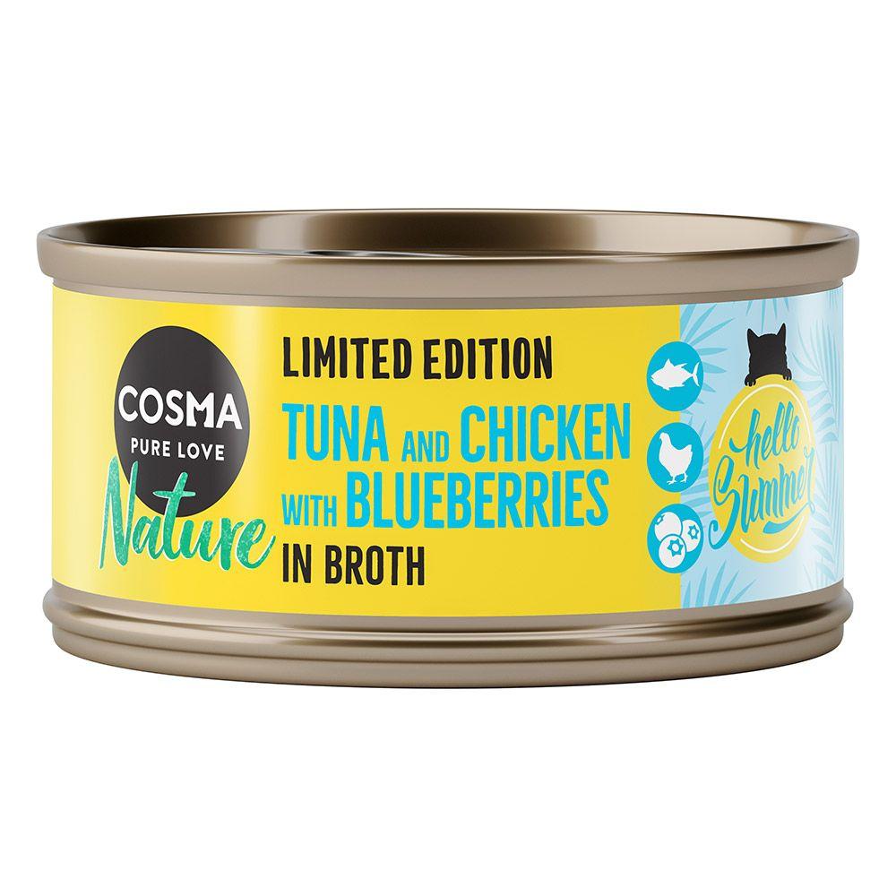 Cosma Nature Summer Edition: Tonfisk & kyckling med blåbär - 6 x 70 g