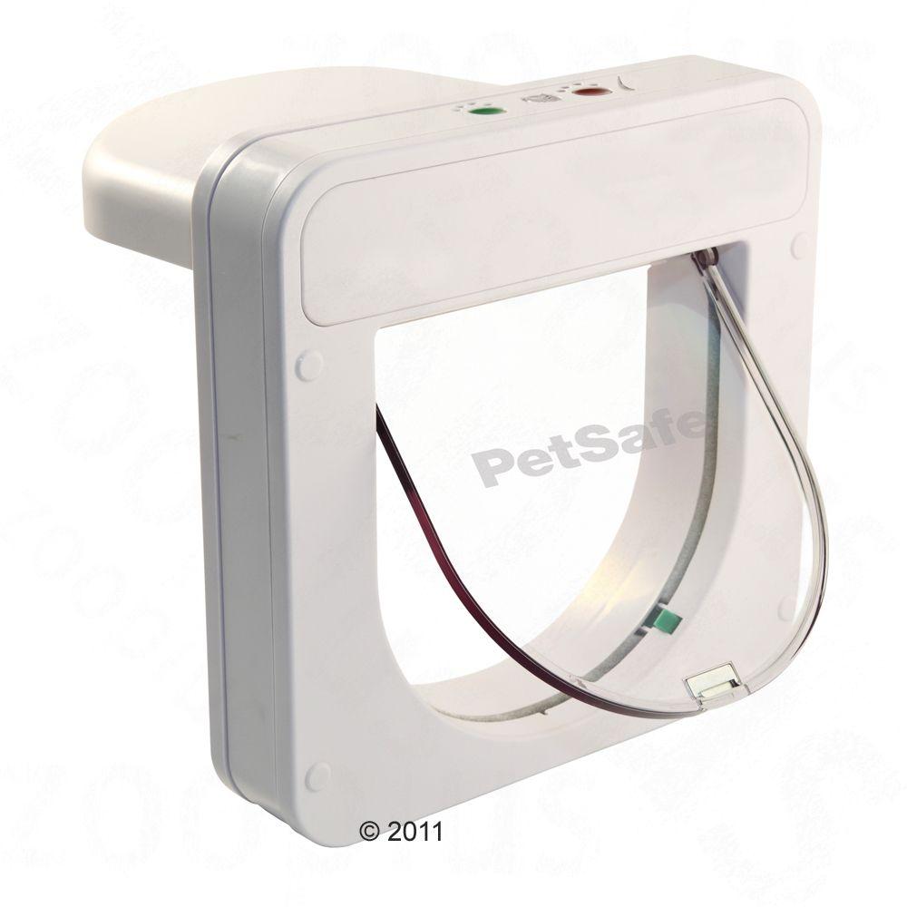 PetPorte SmartFlap Mikrochip Katzenklappe - PetPorte SmartFlap weiß