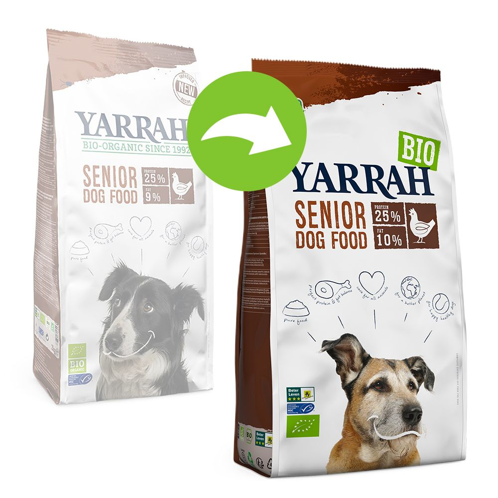 Yarrah Organic Senior med ekologisk kyckling - Ekonomipack: 2 x 10 kg