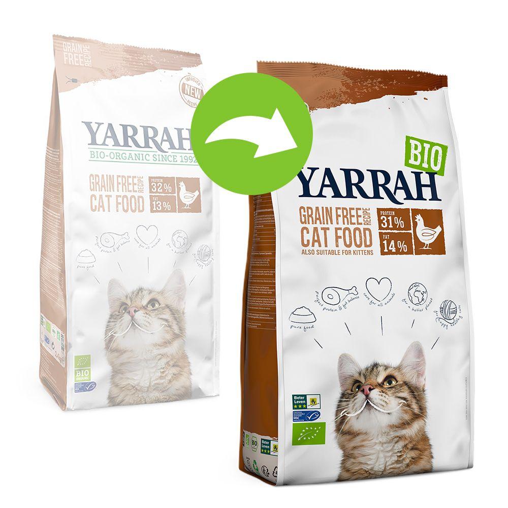 Yarrah Organic Grain Free med ekologisk kyckling - Ekonomipack: 2 x 2,4 kg