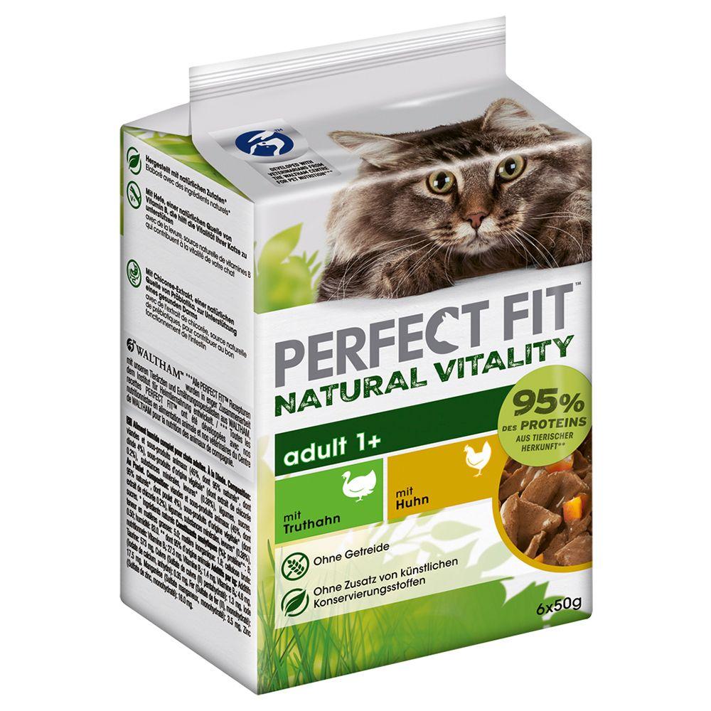 Perfect Fit Natural Vitality Adult 1+ - Hochseefisch und Truthahn (36 x 50 g)