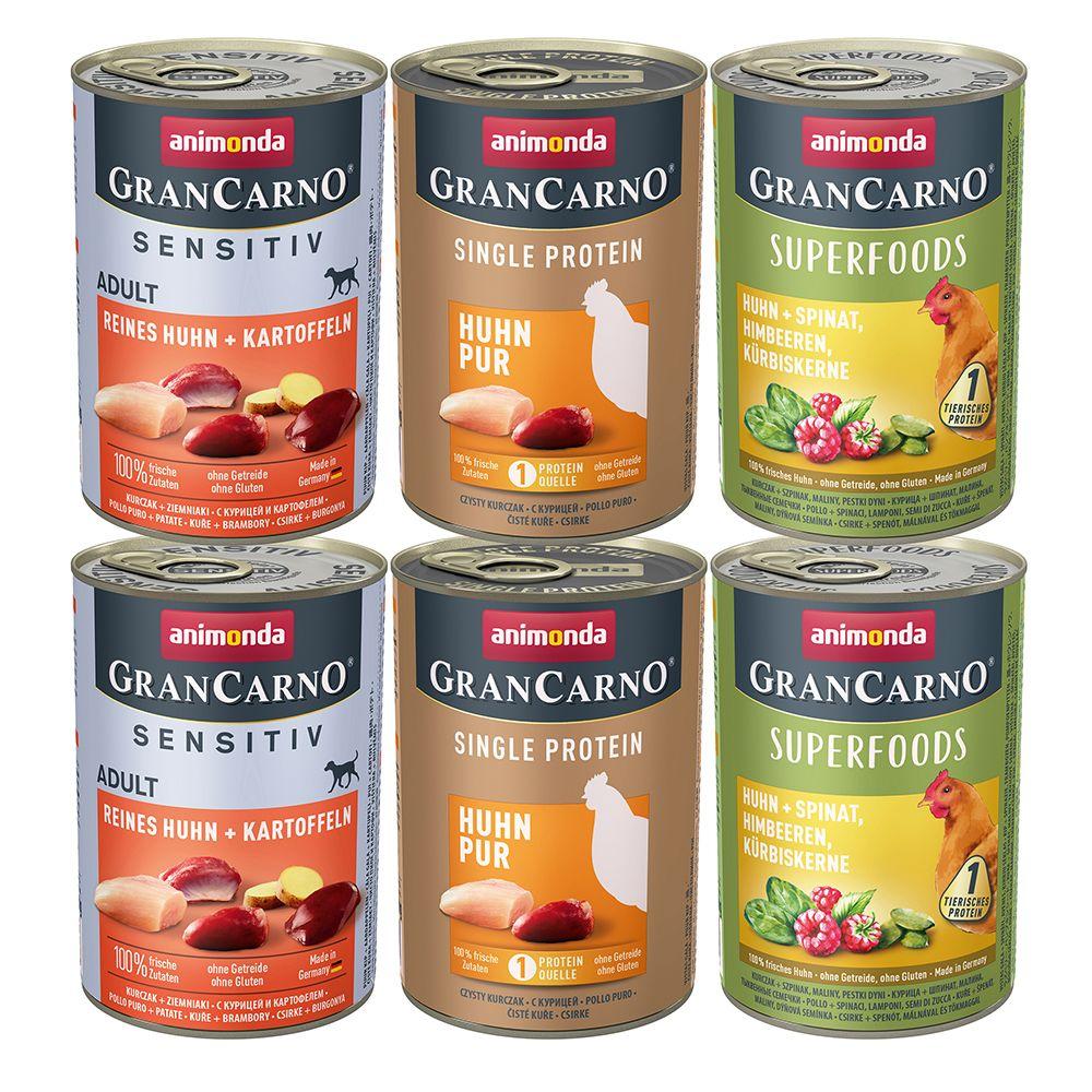 Animonda GranCarno Adult Monoprotein Mixpaket 6 x 400 g - Mix Rind