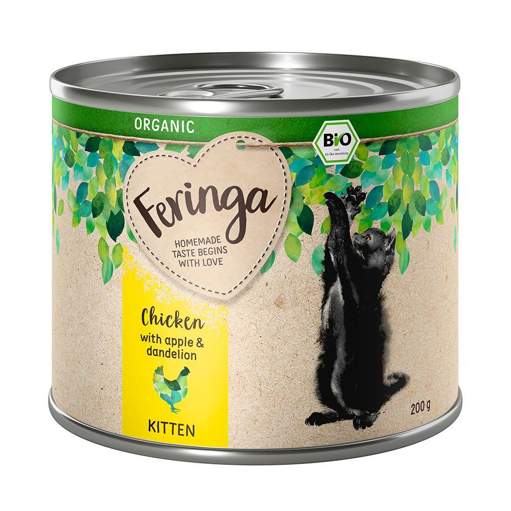 Feringa Organic Kitten 6 x 200 g - Blandpack (2 sorter)