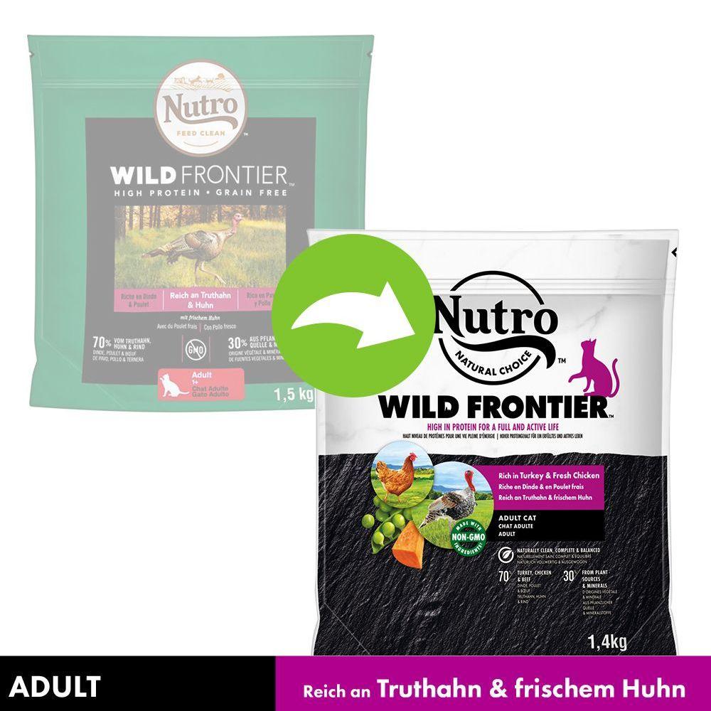 Nutro Wild Frontier Katze Adult Truthahn & Huhn  - Sparpaket: 3 x 4 kg