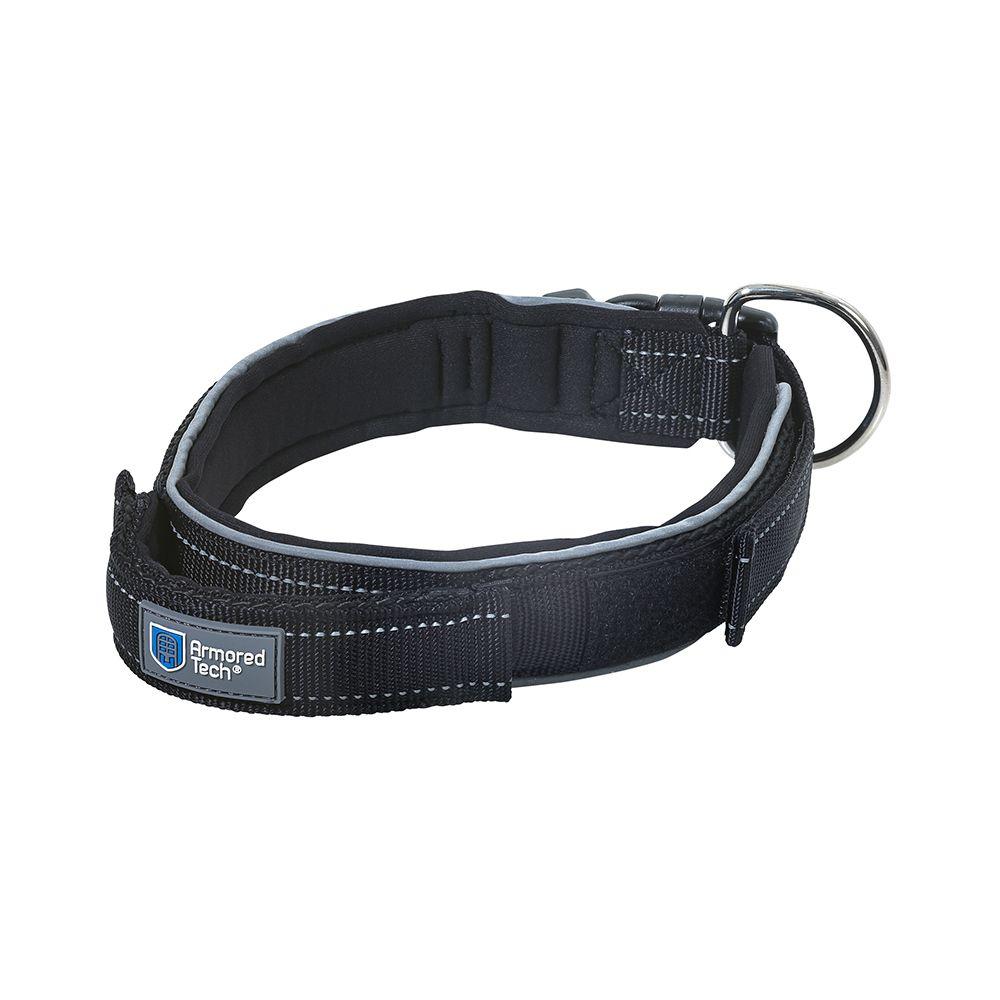 Dog Control Halsband schwarz -  Größe M: Halsumfang 39-45 cm, Breite 3,5 cm