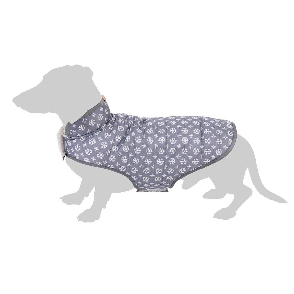 Manteau Cozy Snowflake pour chien - longueur du dos : 30 cm environ