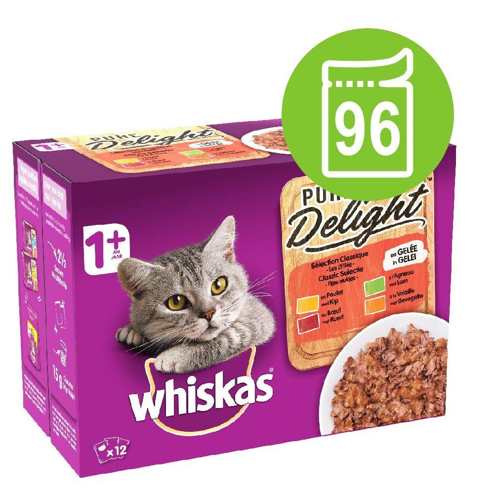96x85g Pure Delight 1+ Adult fjerkræ i gelé Whiskas vådfoder kat