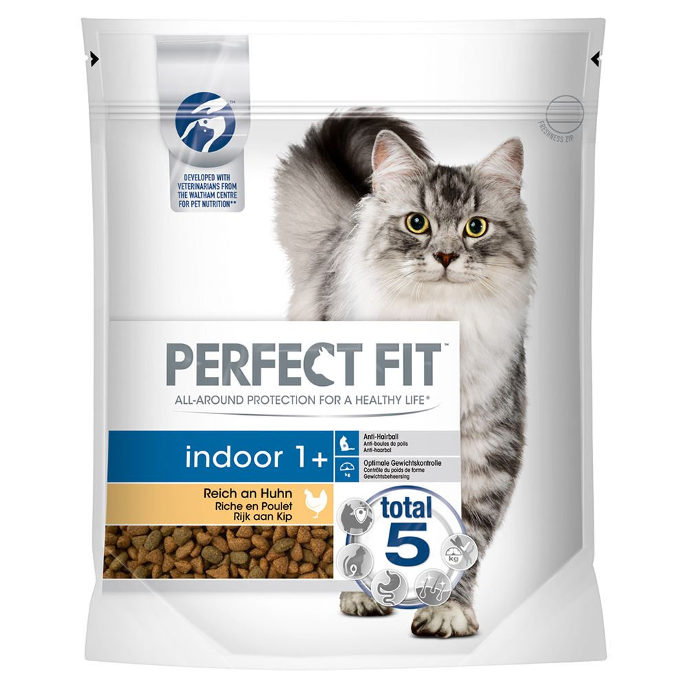 Perfect Fit Indoor 1+ Reich an Huhn - Sparpaket: 5 x 1,4 kg