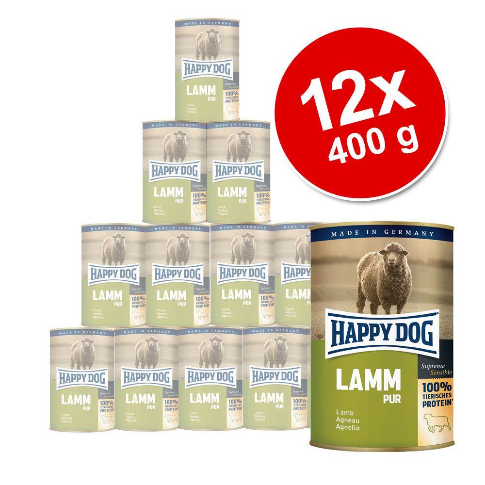 Happy Dog Pur 12 x 400 g - Manzo puro