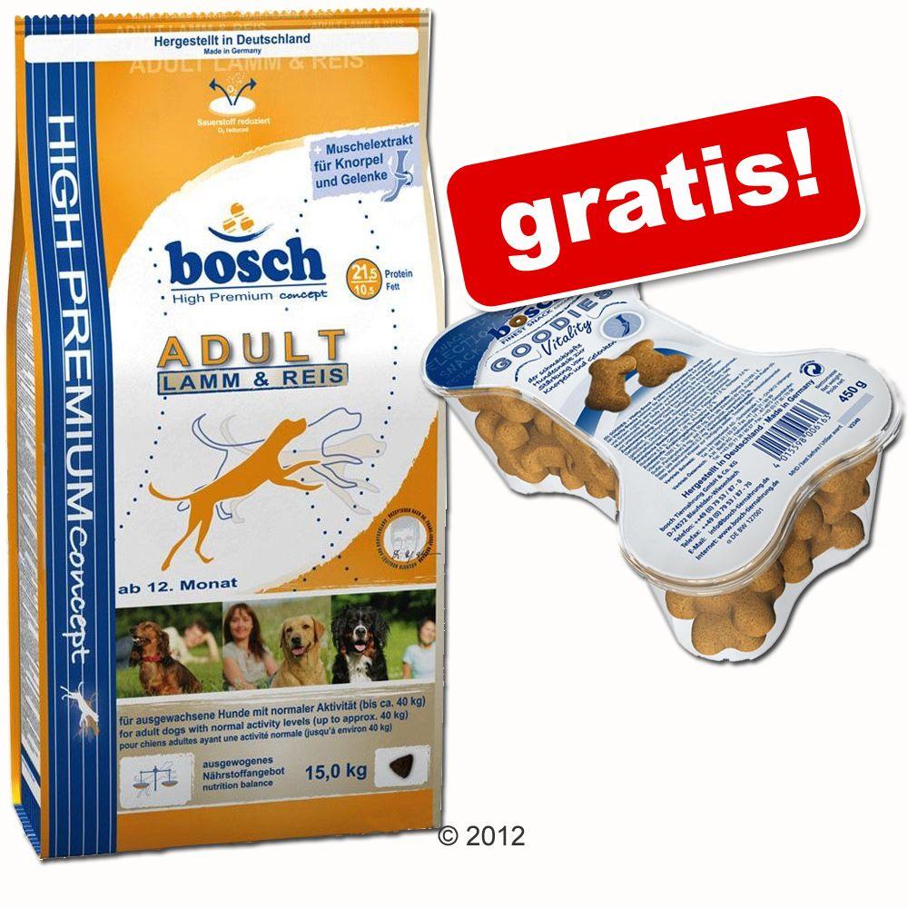 Großgebinde Bosch + 450 g Goodies Vitality gratis! - Soft Hühnchen + Banane (12,5 kg)
