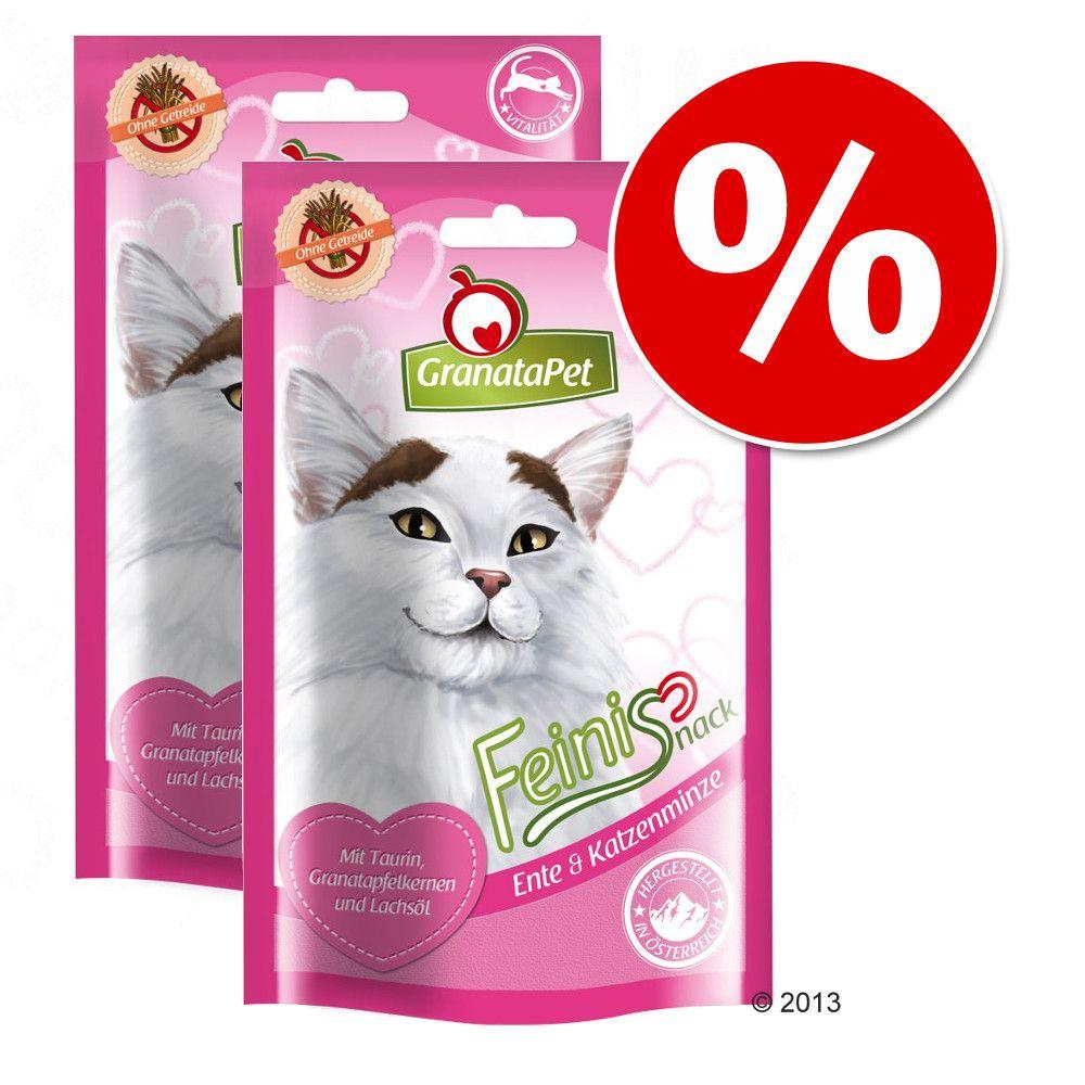 Granatapet Feinis, przysmaki dla kota, 2 x 50 g w super cenie! - Kaczka z kocimiętką, 2 x 50 g