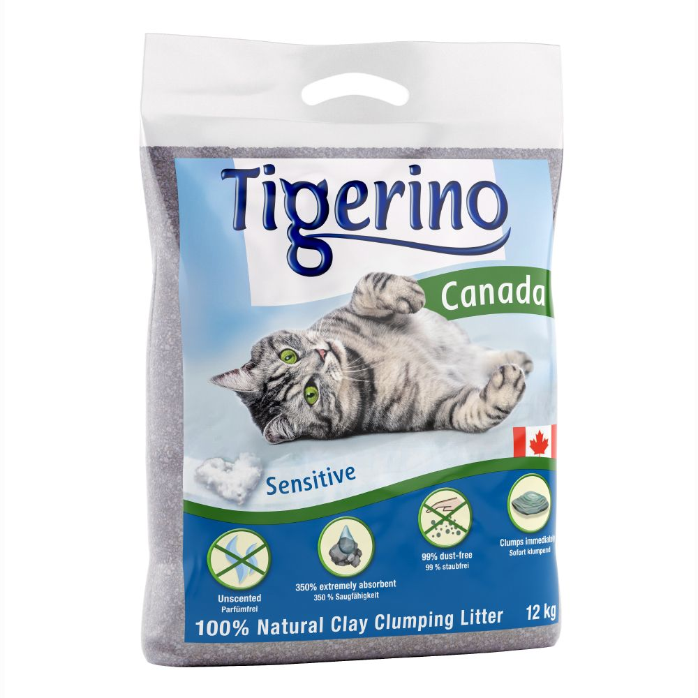 Tigerino Canada kattströ - Sensitive - 12 kg