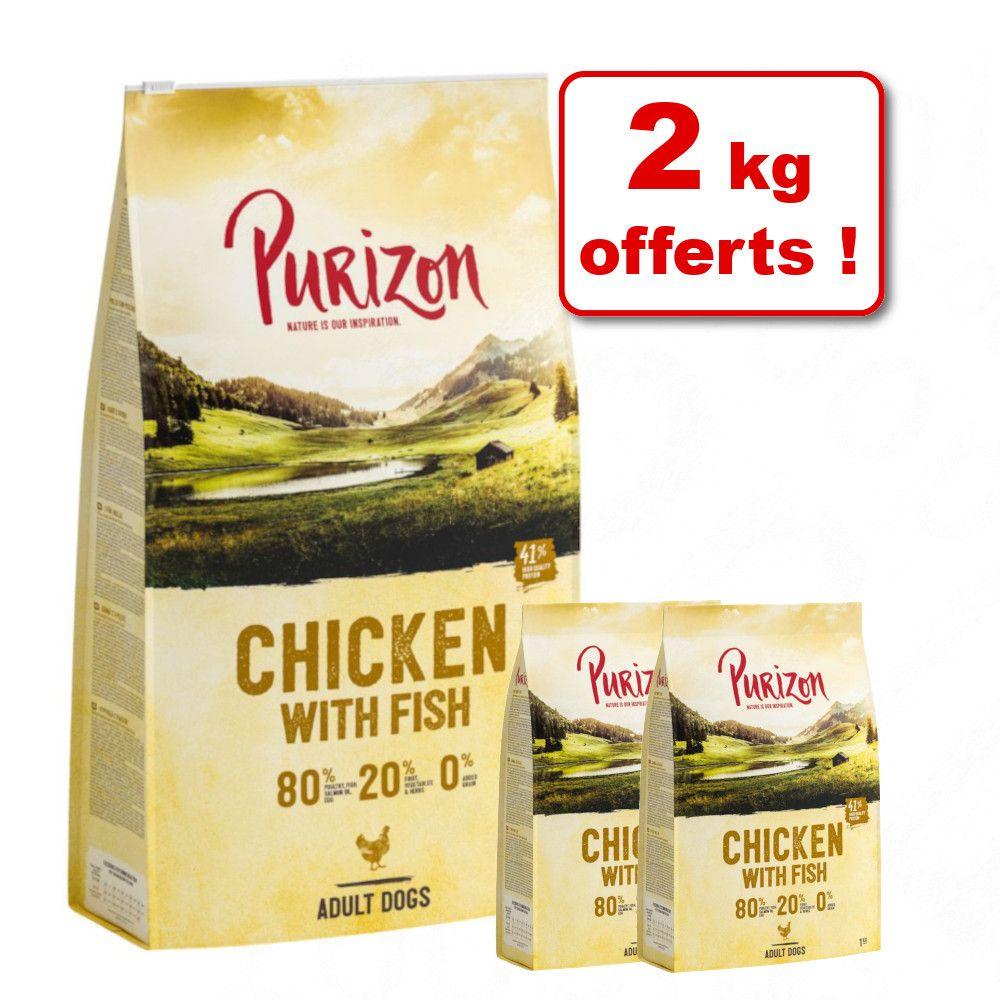 12kg Purizon Single Meat Adult saumon, épinards - Croquettes pour chien