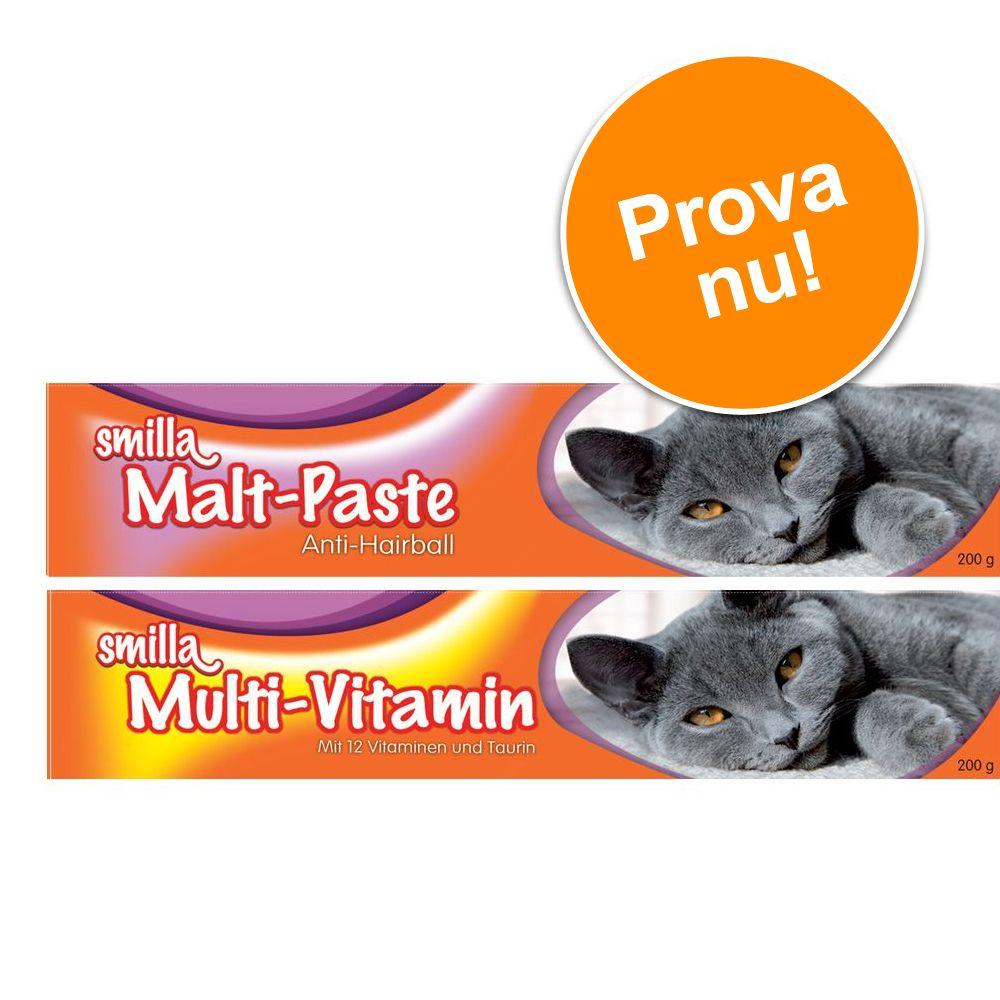 Provpack: Smilla Multi-Vitamin & Malt pastejer i tub - 2 x 200 g