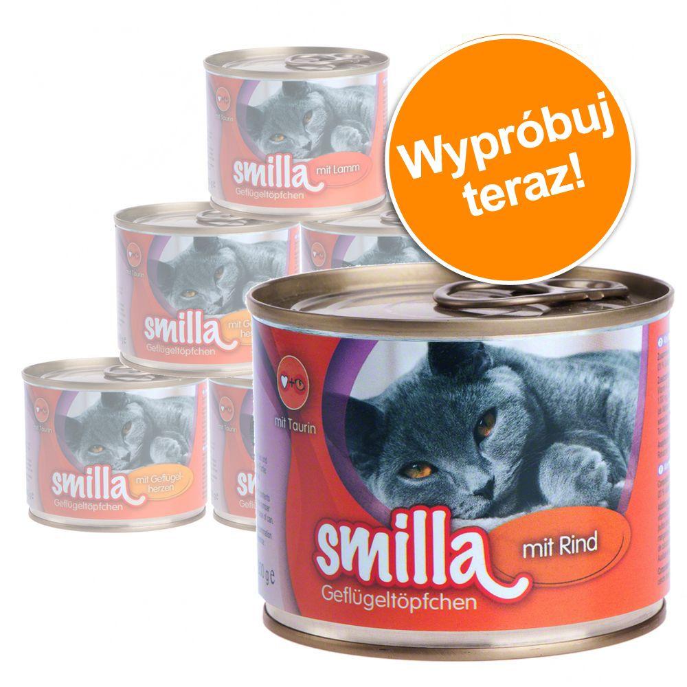 Mieszany pakiet próbny Smilla z drobiem, 4 różne smaki - 6 x 200 g