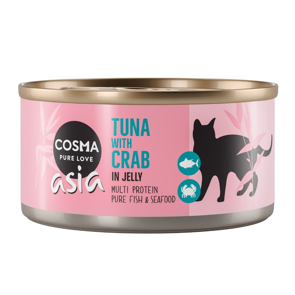 Tuna with Crab Meat Saver Pack in Jelly Cosma Thai Wet Cat Food