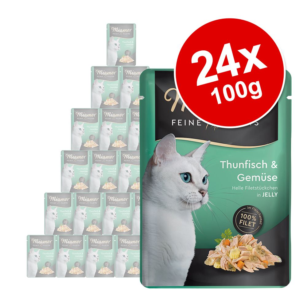 Ekonomipack: Miamor Fine Filets i portionspåse 24 x 100 g - Tonfisk i krabbgelé