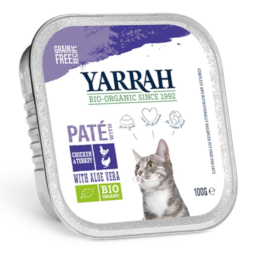 Image of Yarrah Bio 24 x 100 g - Paté di Pollo bio & Tacchino bio con Aloe Vera bio