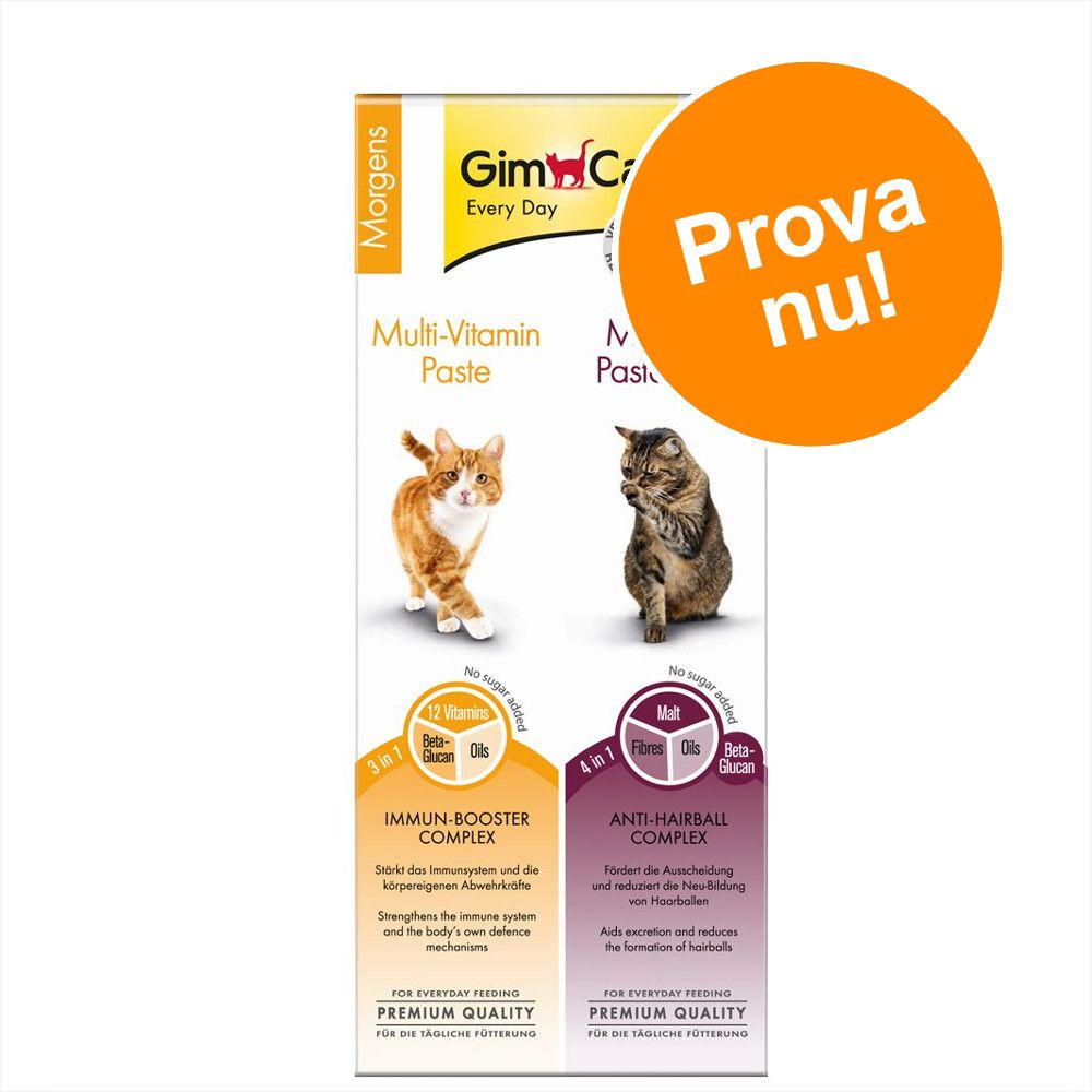 Provpack: GimCat Multi-Vitamin & Malt-Soft Paste - 50 g Multi-Vitamin & 50 g Malt-Soft Paste
