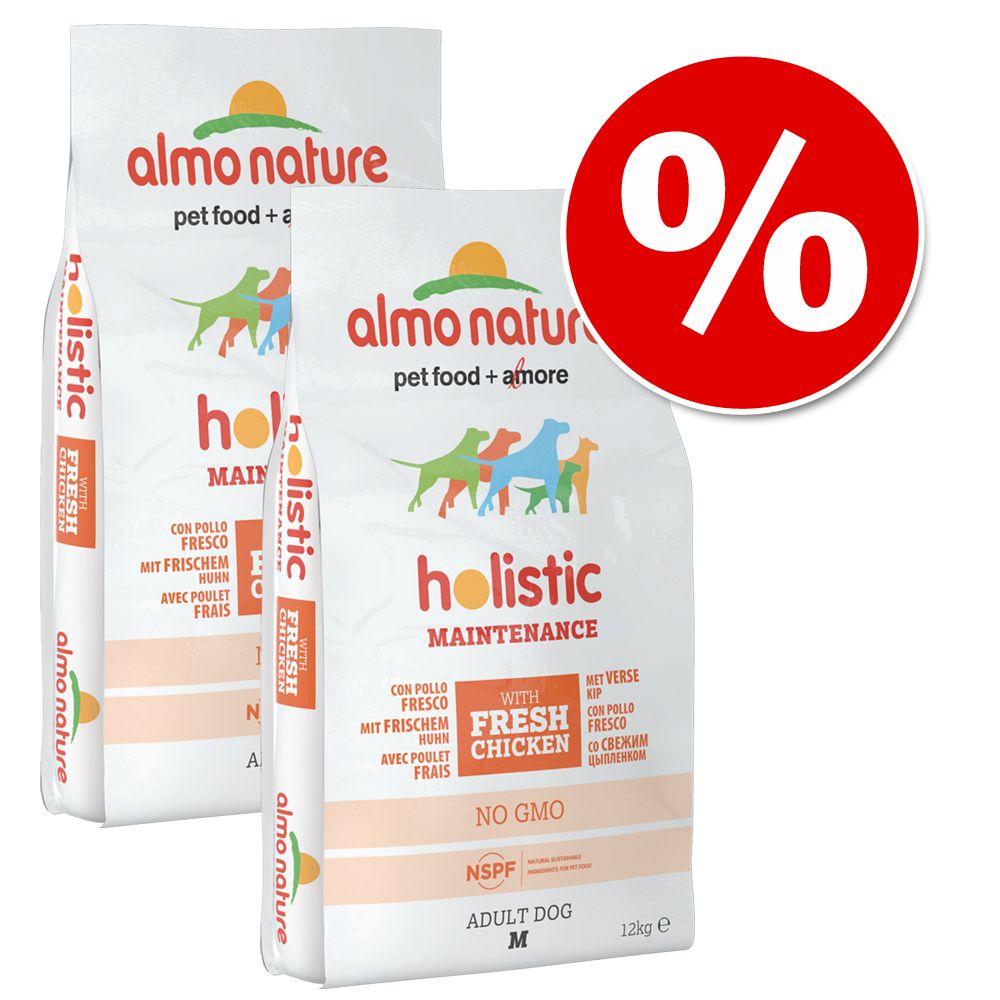 Image of 2 x 12 kg Almo Nature Holistic - Medium Adult con Agnello