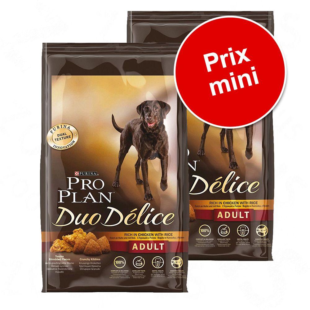 Lot PRO PLAN Duo Delice pour chien - Duo Délice bœuf (2 x 10 kg)