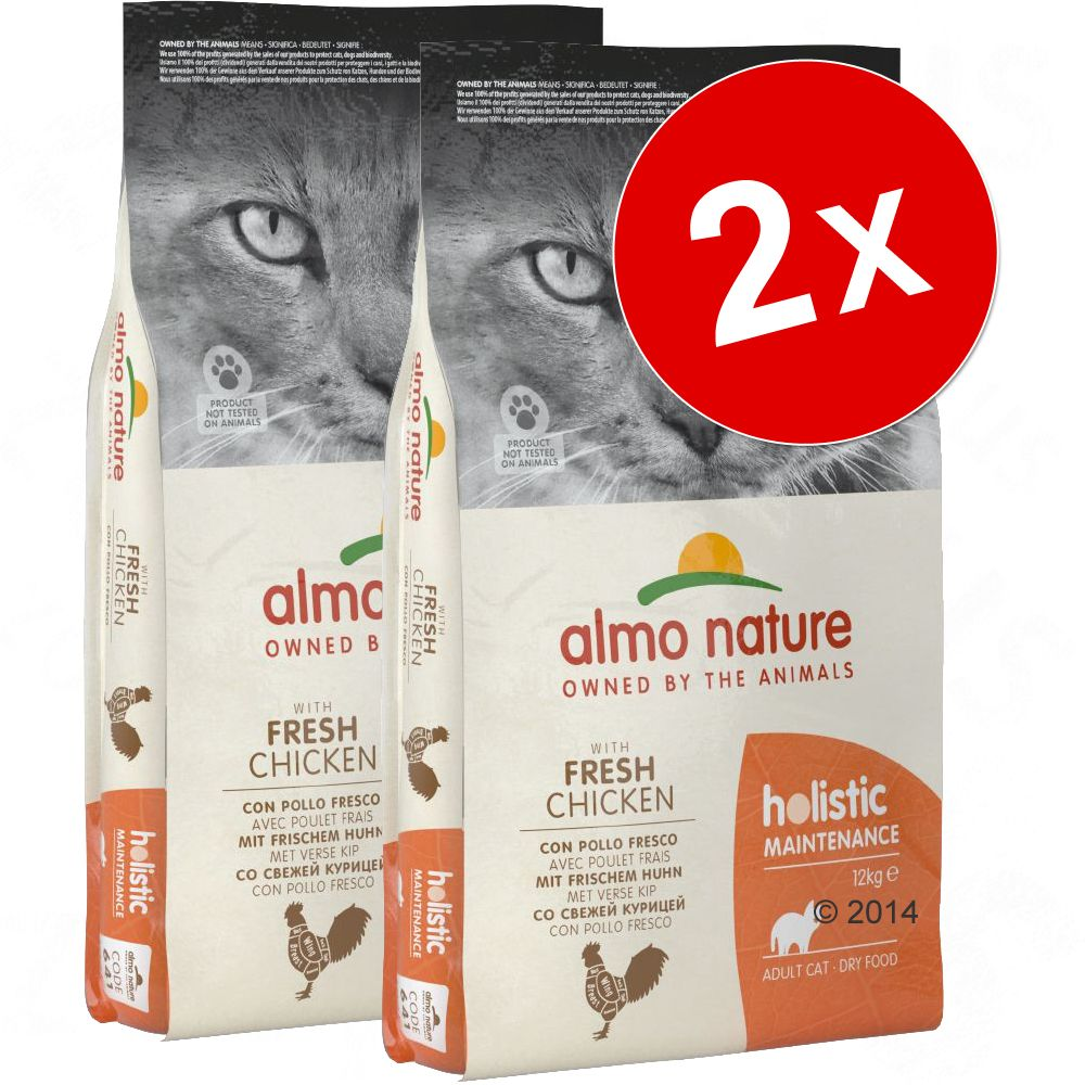 2x12kg dinde, riz Almo Nature Holistic - Croquettes pour chat