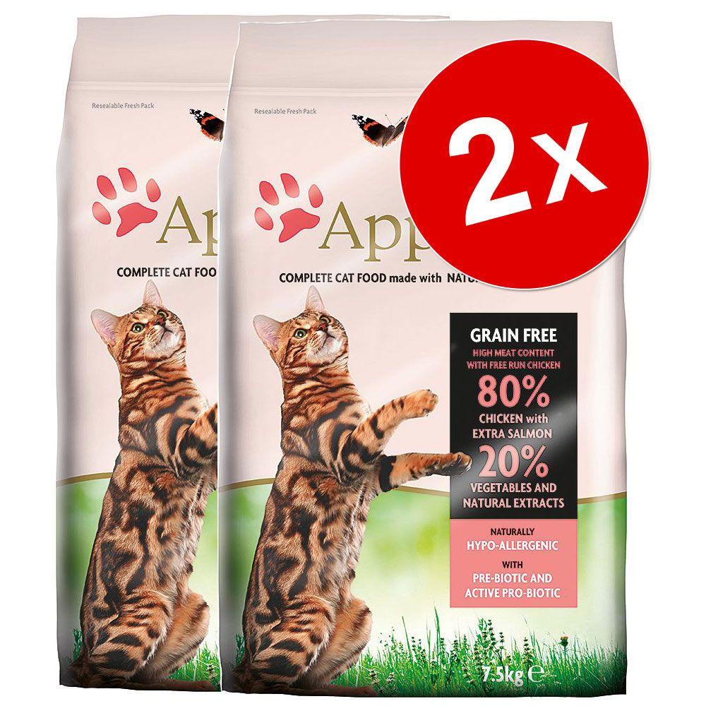 2x7,5kg Applaws Poulet Croquettes pour chat