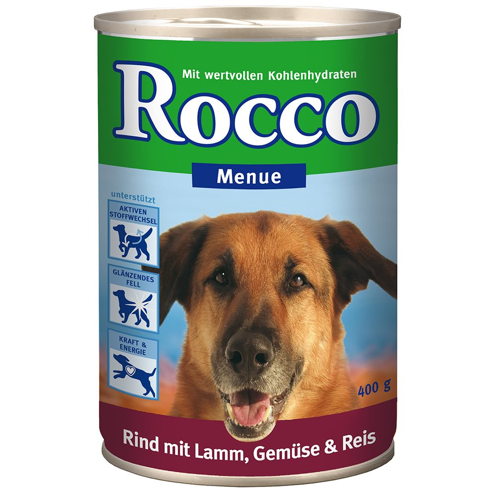 Rocco Menu Saver Pack 12 x 400g - Lamb, Vegetables & Rice