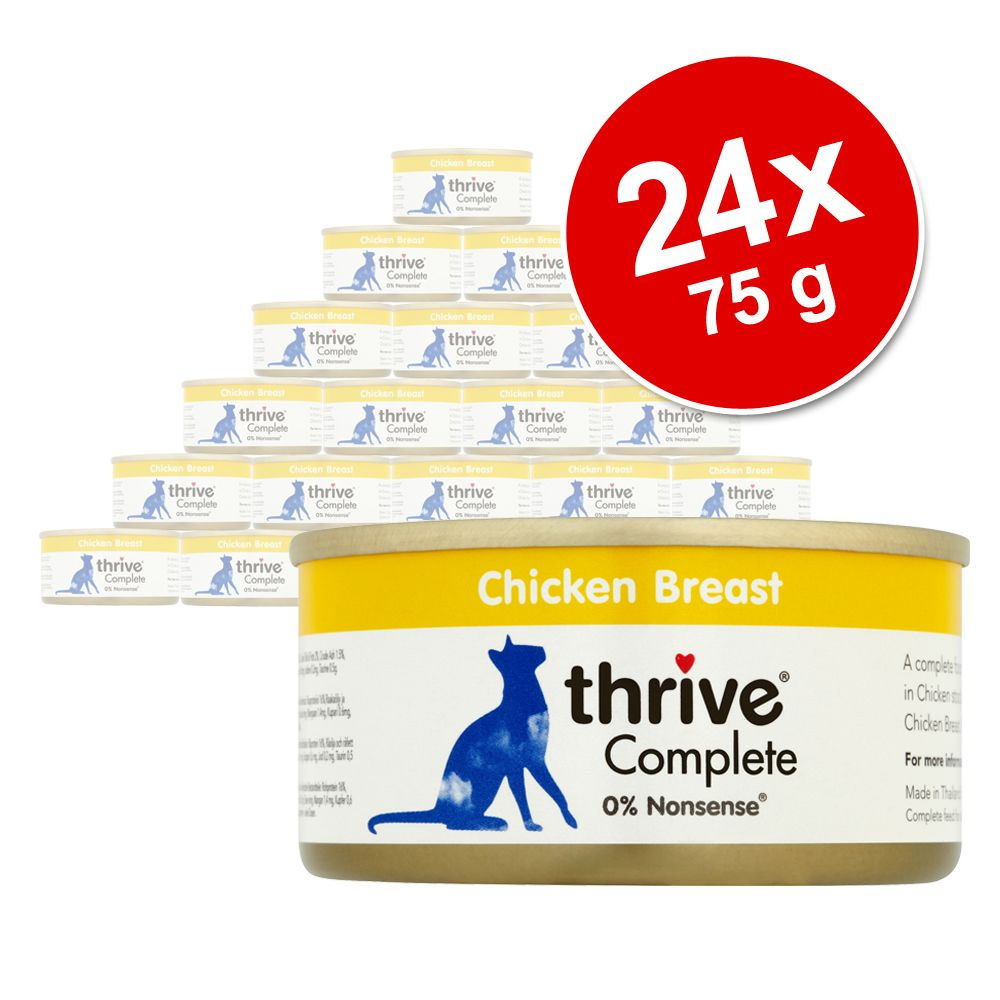 Ekonomipack: Thrive Complete 24 x 75 g - Tonfisk & lax