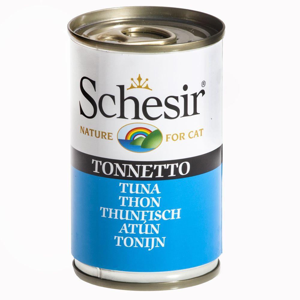 Schesir 6 x 140 g - Tonfisk & nötkött i gelé