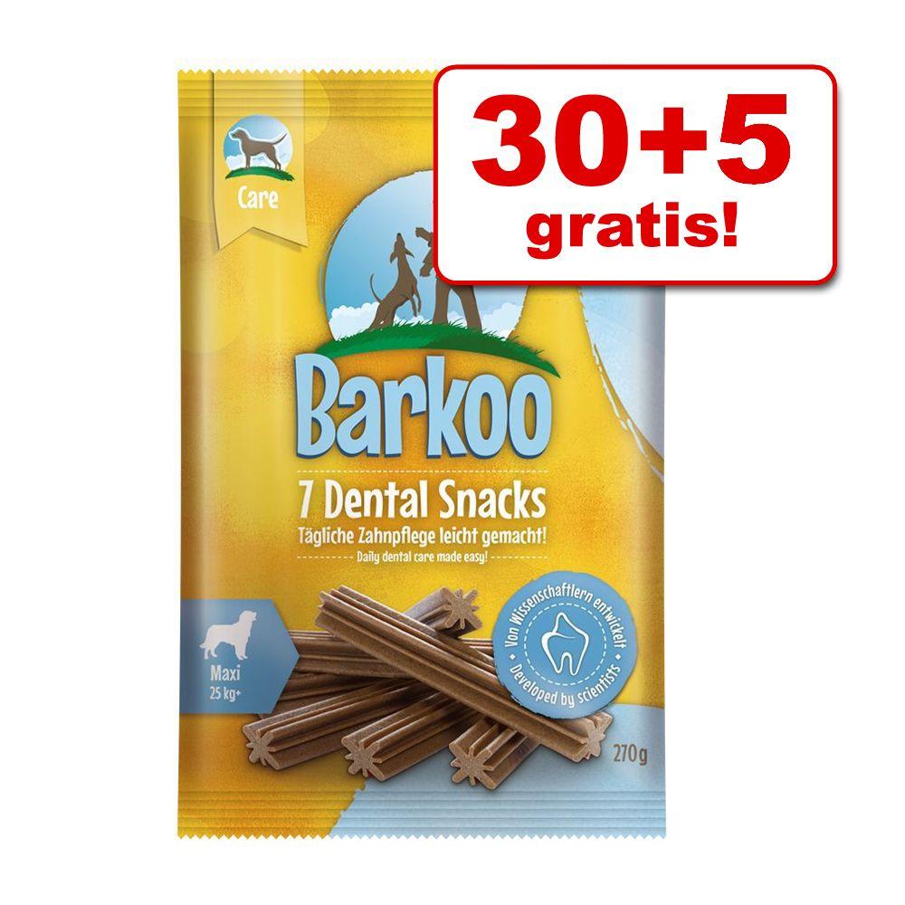 30 + 5 på köpet! 35 st Barkoo Dental Snacks – Stora hundar (35 st)