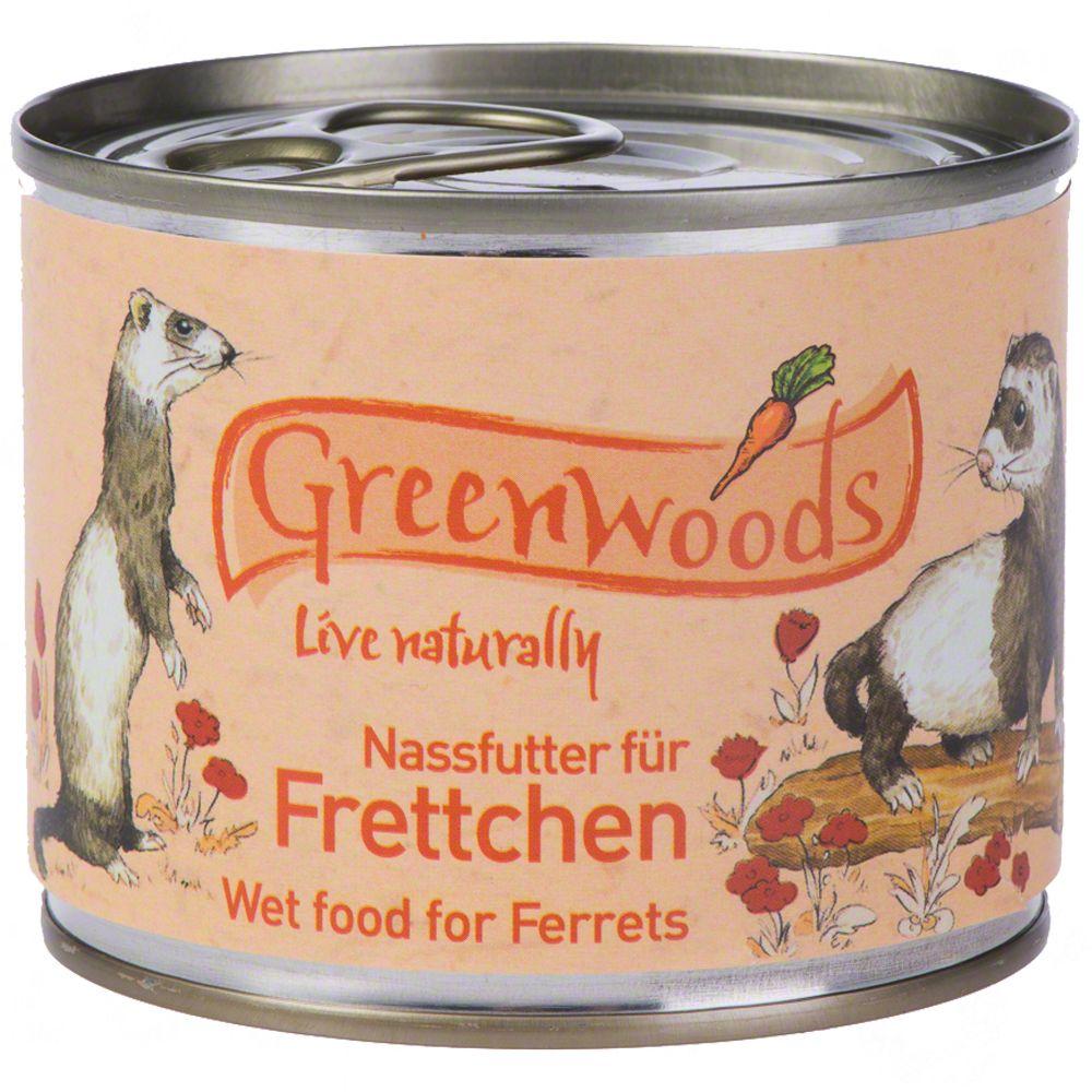 48x200g Greenwoods furet - Nourriture furet