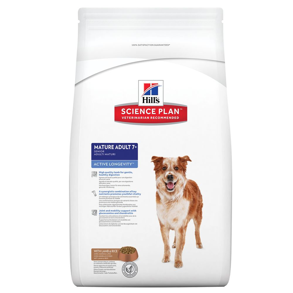 Click to view product details and reviews for Hills Science Plan Mature Adult 7 Active Longevity Medium Lamb Rice 12kg.