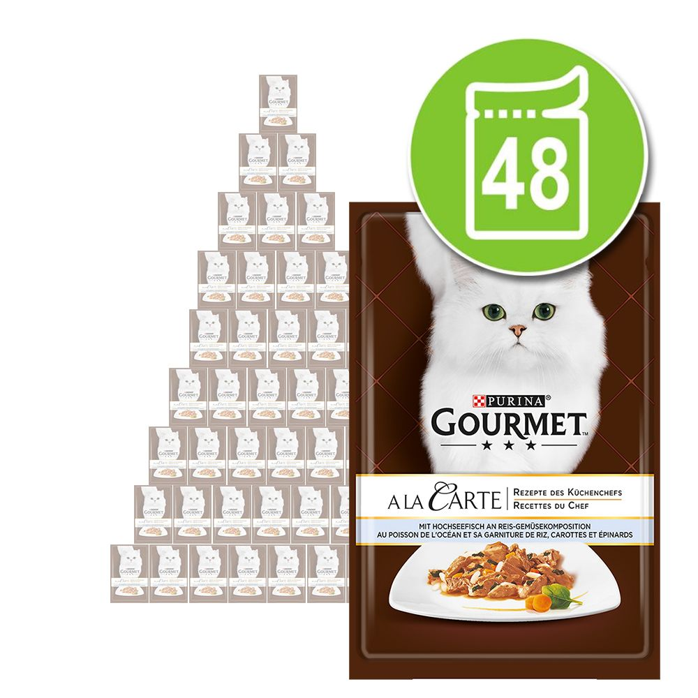 Ekonomipack: Gourmet a la Carte 48 x 85 g - Öring med utvalda grönsaker