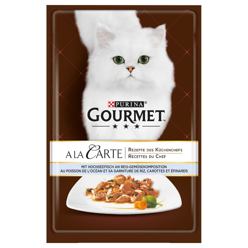 Salmon & Garden Vegetables Gourmet A La Carte Wet Cat Food