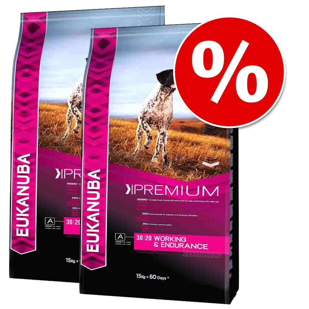 Dwupak Eukanuba Premium Performance, 2 x 15 kg - Working & Endurance