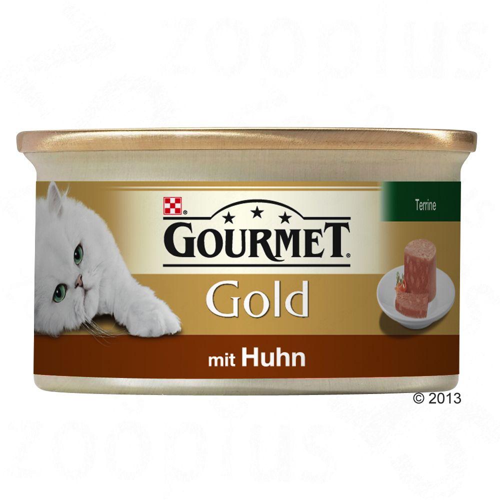 Gourmet Gold Terrine 12 x 85 g - Huhn, Karotten & Zucchini