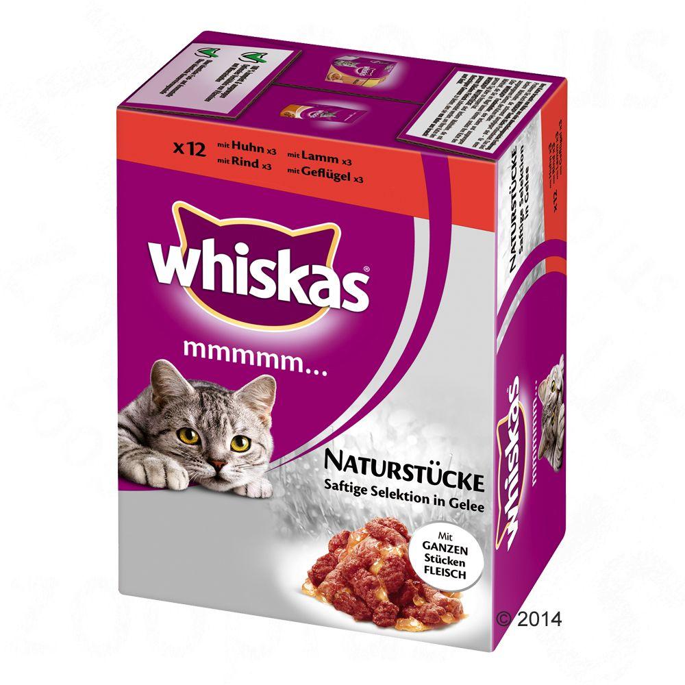 Whiskas Mmmmm... natúr falatok 12 x 85 g - Hús: ízletes választék aszpikban