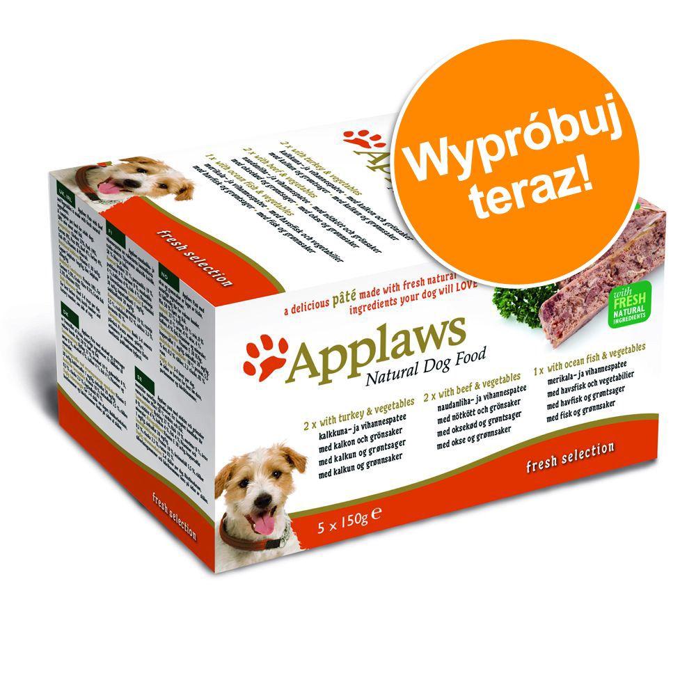 Pakiet próbny Applaws Dog Paté, 5 x 150g - Fresh Selection: Indyk, wołowina i ryby oceaniczne