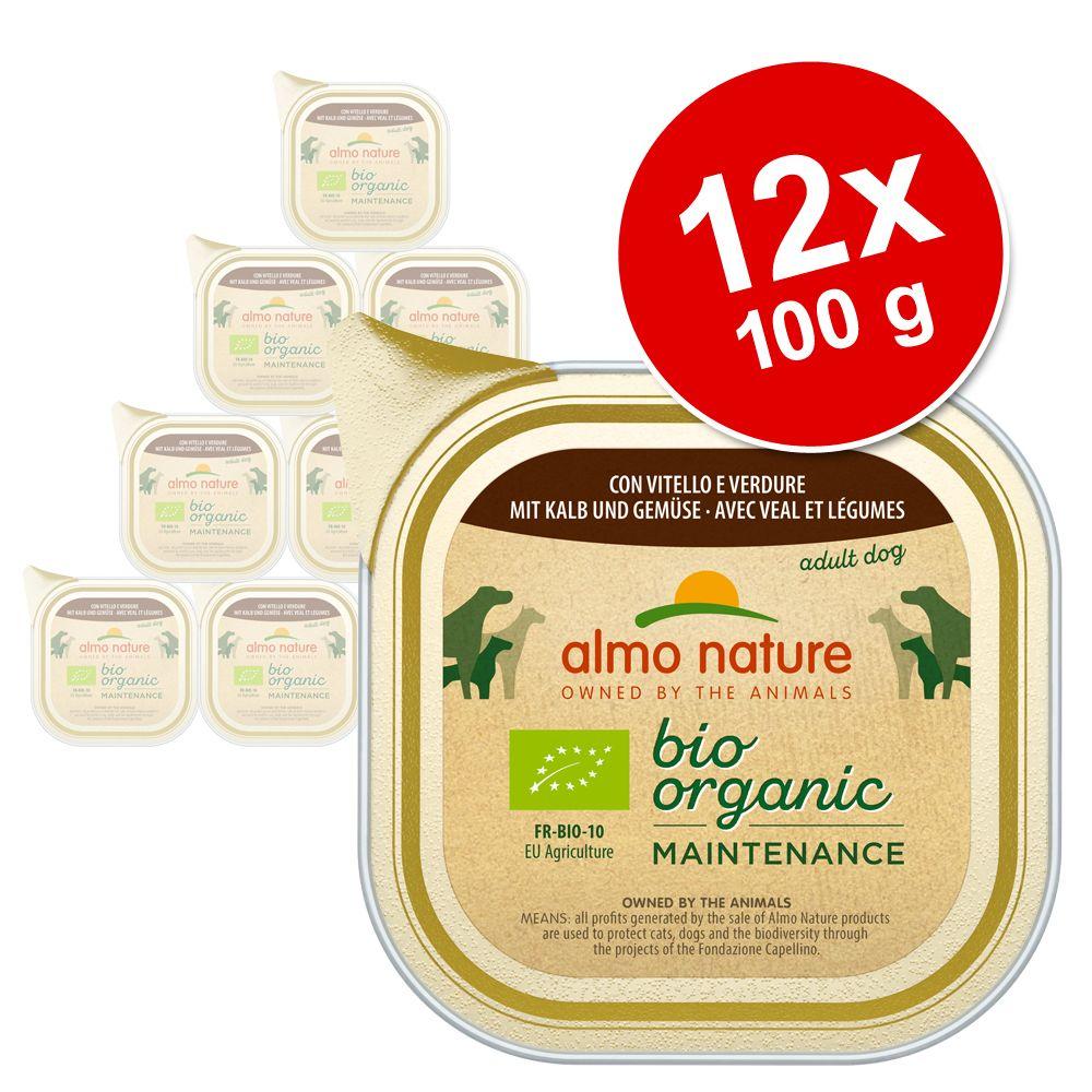 Image of Almo Nature BioOrganic Maintenance 12 x 100 g - mit Huhn & Gemüse