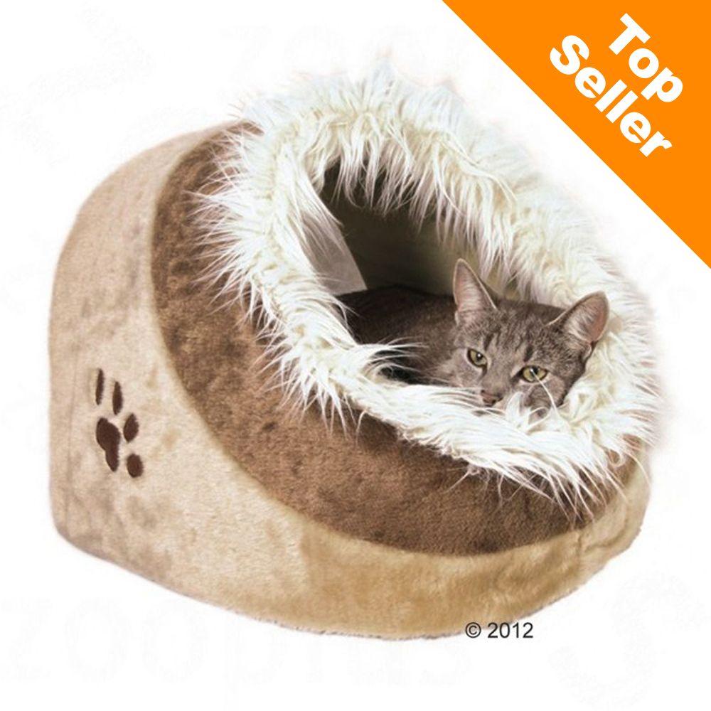 Niche Trixie Minou pour chat - rose / gris : L 41 x l 35 x H 26 cm