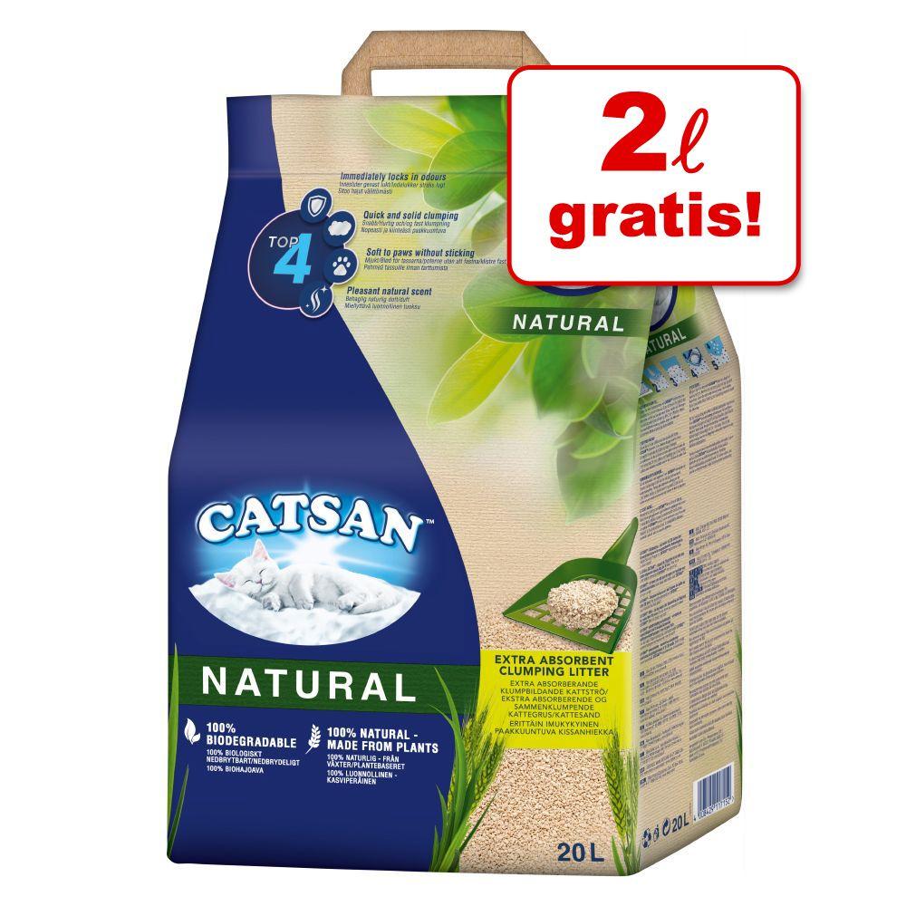 18 + 2 liter på köpet! 20 liter Catsan Natural 20 l