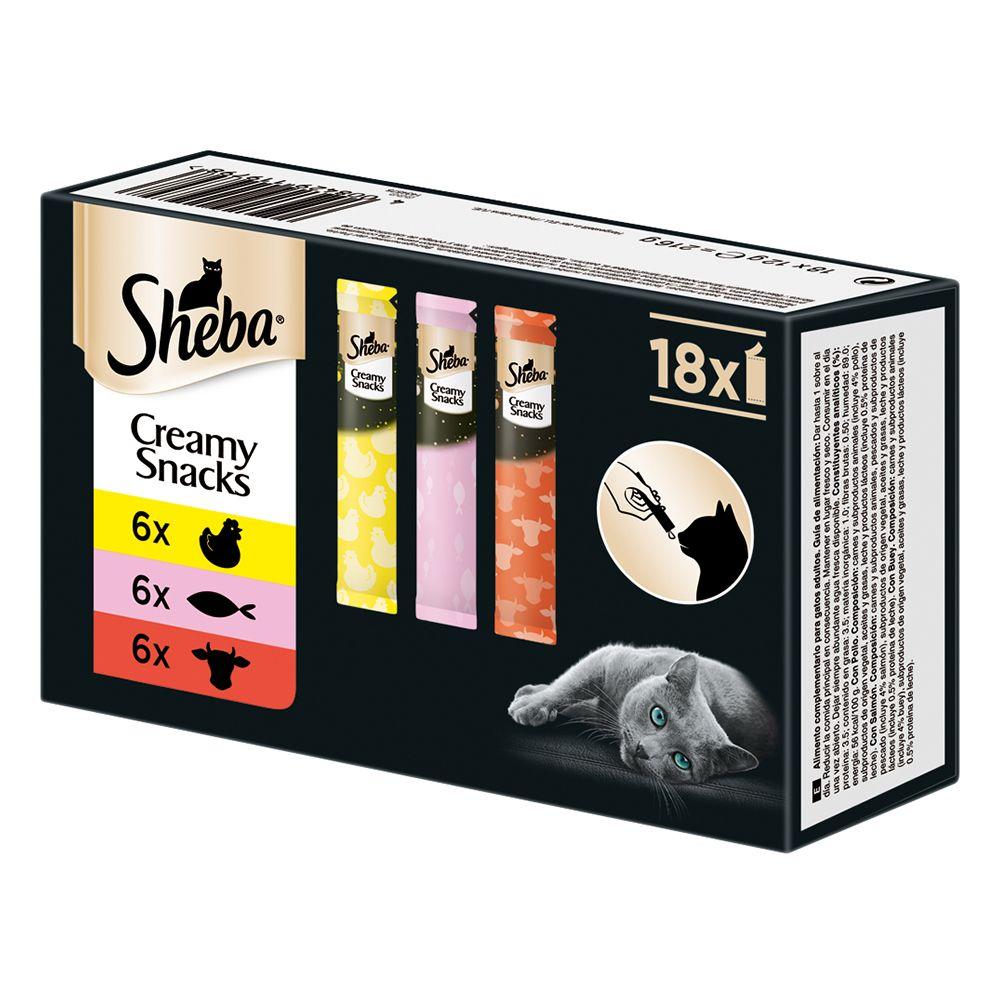 Sheba Creamy Snacks Multipack - 18 x 12 g