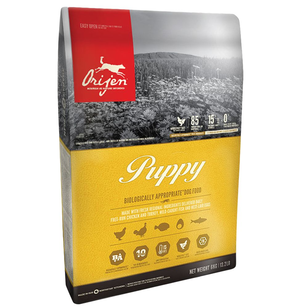 The recipe of Orijen Puppy Dry Food helps support your puppy through the vital growth stages at the start of its life, helping develop vital functions such as musc...