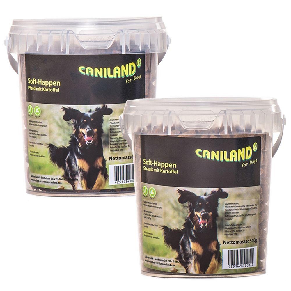 Gemischtes Paket 2 x 540 g Caniland Soft Happen getreidefrei - 2 x 540 g