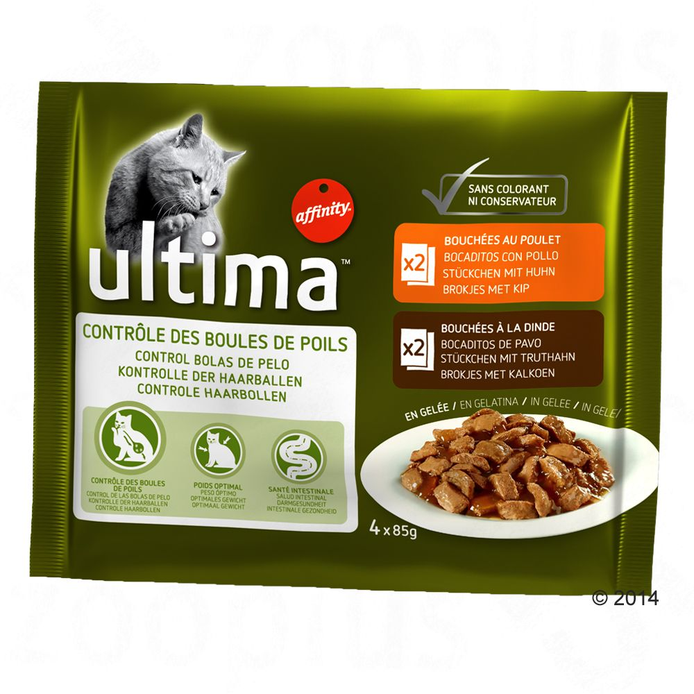 Ultima Cat Hairball - Sparpaket: 24 x 85 g