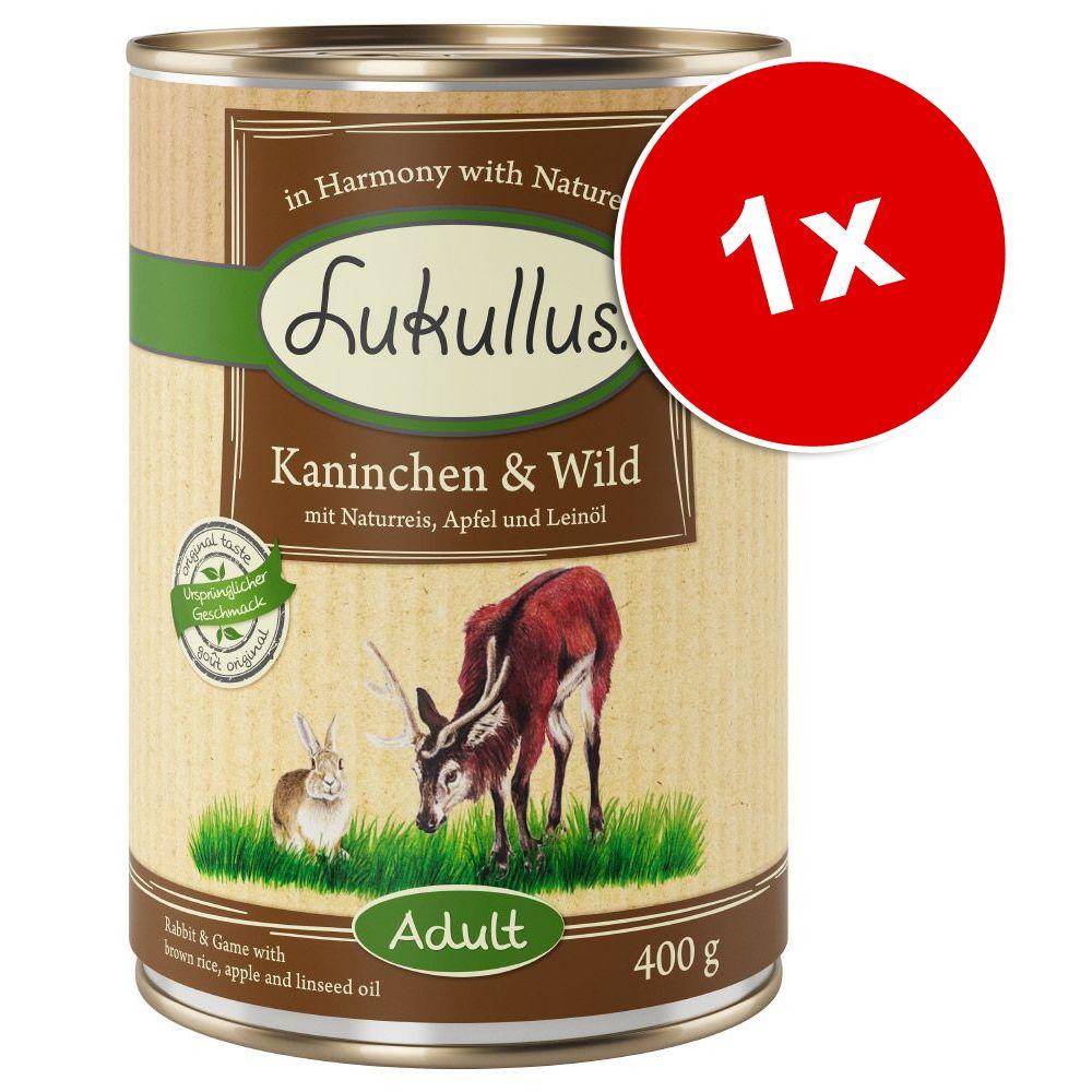 Lukullus Natural, 1 x 400 g - Drób i jagnięcina (bez zbóż)
