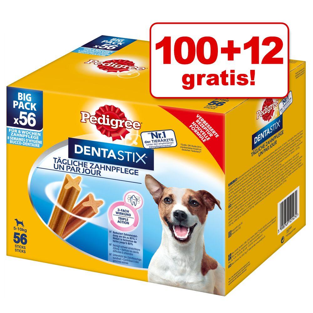100 + 12 gratis! 112 x Pedigree Dentastix Tägliche Zahnpflege/ Fresh Tägliche Frische Hundesnacks - für kleine Hunde (5-10 kg)