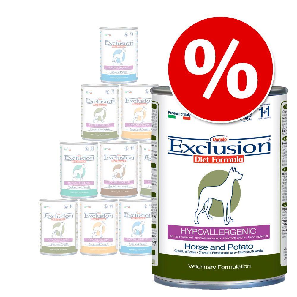 Foto Pacco misto Exclusion Diet Hypoallergenic12 x 400 g - Cavallo + Cervo + Coniglio