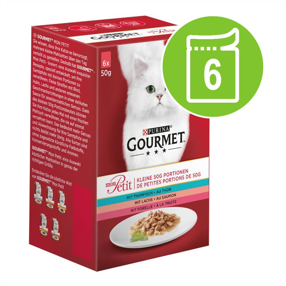 Gourmet Mon Petit 6 x 50 g - Fjäderfä